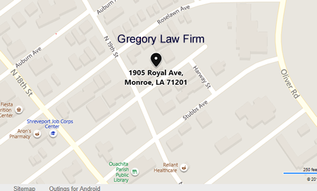 Location od Gregory Law Firm