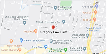 Location of Gregory Law Firm